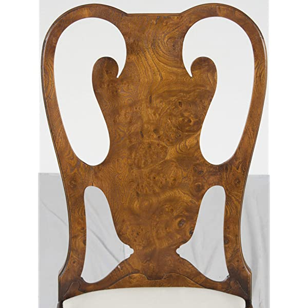 Queen Anne Dining Chairs in Burl Walnut