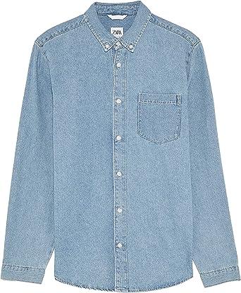 Zara 6987/300 - Camiseta de Mezclilla básica para Hombre ...