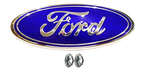 Muzzys Ford F Light Blue Grille Or Tailgate Emblem With Nuts   Oval