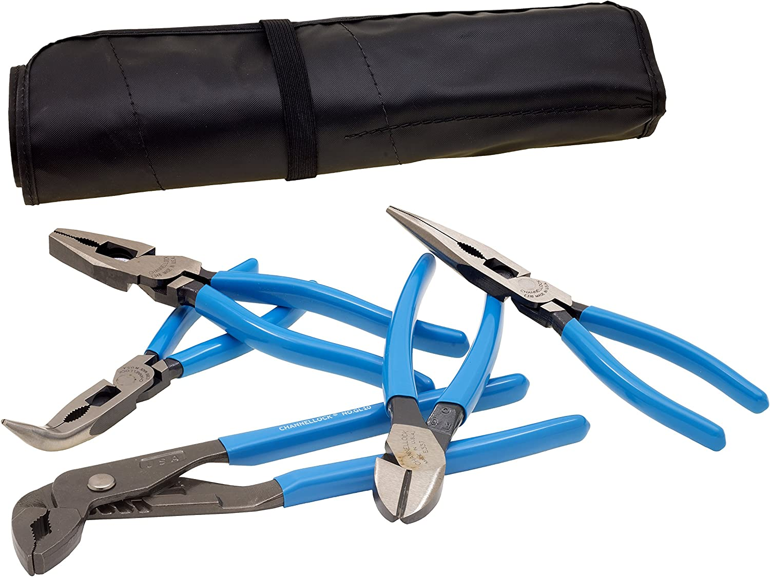 5-Piece Channellock Tool Roll-53 E-Series Plier Set with Tool Roll