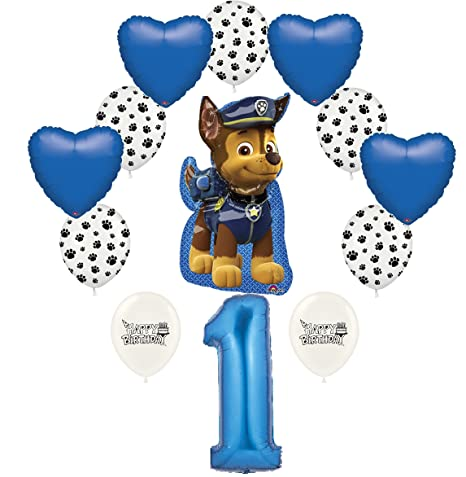 Amazon New Ultimate 13 Piece Happy 1st Birthday Chase Hearts