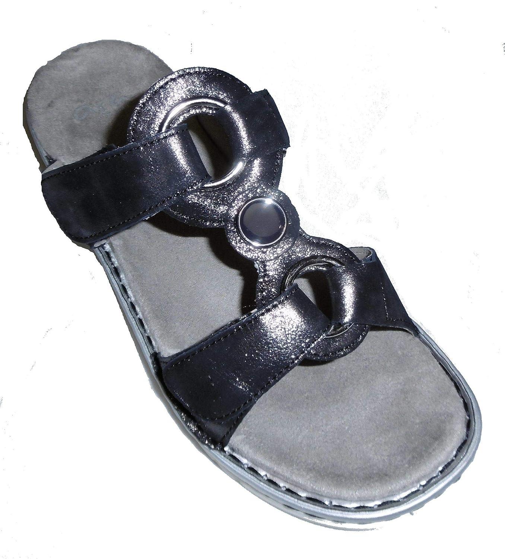 bluee silver ARA Women's Leather Clogs & Mules