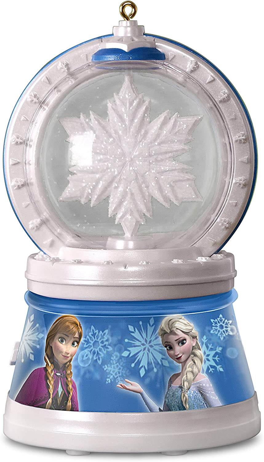 Hallmark Keepsake 2017 Disney Frozen Elsa's Magic Snowflake Christmas Ornament With Light and Music