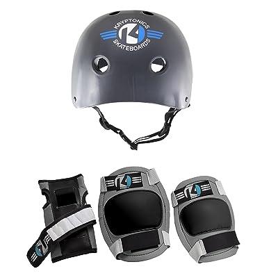 Kryptonics Starter 4-in-1 Pad Set with Helmet, Small/Medium : Sports & Outdoors