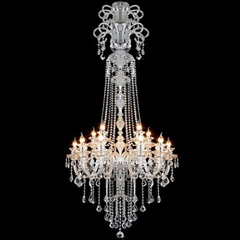 Poersi chrome chandelier modern chandelier lighting crystal pendant lamp large crystal chandeliers