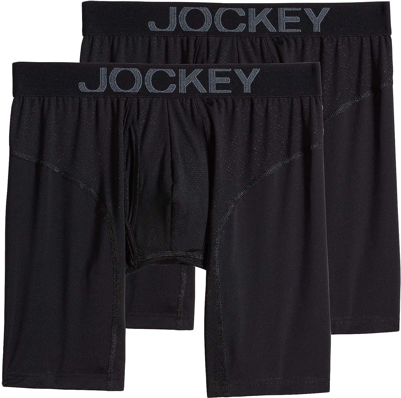 Jockey UNDERWEAR メンズ B07F28NJMQ XX-Large|Net White Black/Black Net White Black/Black XX-Large