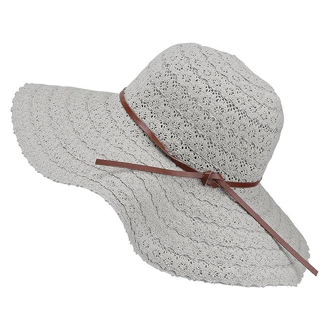 Magic Zone UPF Sombrero de paja de sol Verano 3a3efc56a4b