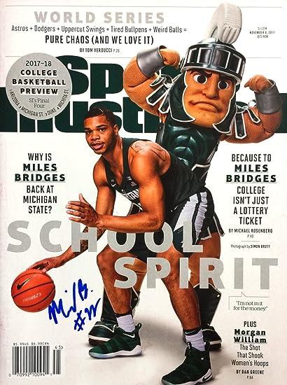 sports shoes 1f296 1e823 Miles Bridges MICHIGAN STATE SPARTANS autographed Sports ...