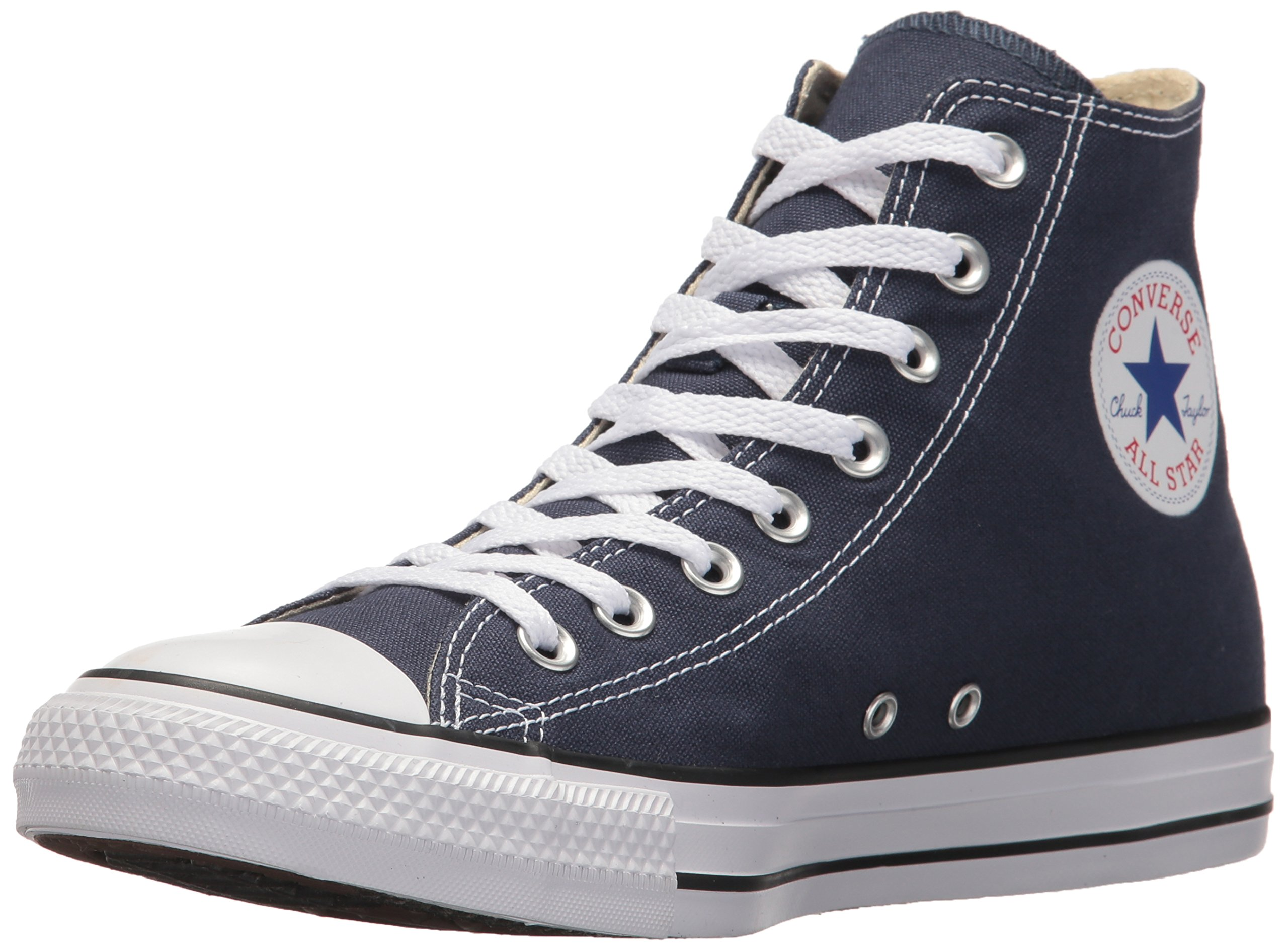 Converse Chuck Taylor All Star Canvas High Top Sneaker, Navy, 8 D(M) US by Converse