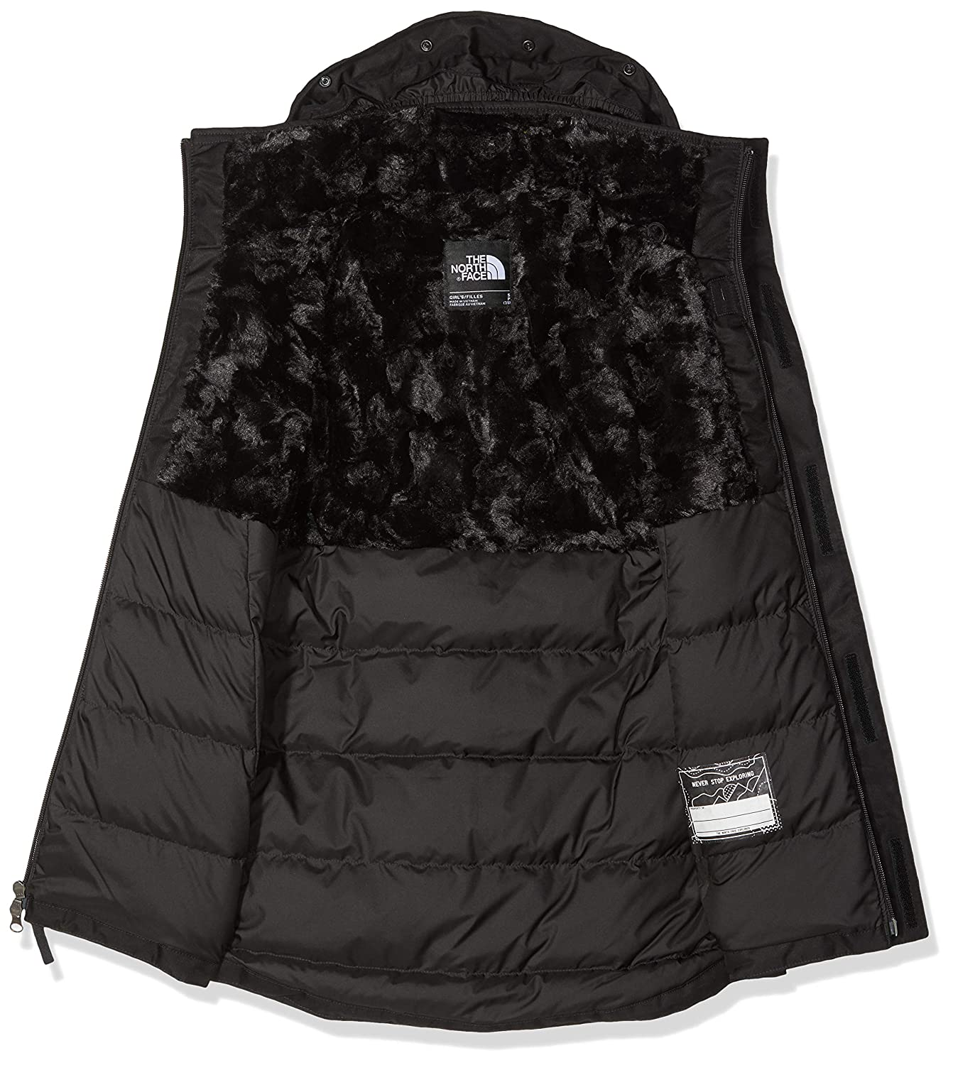 b1b8ef651 The North Face Kids Girl's Arctic Swirl Down Jacket (Little Kids/Big Kids)
