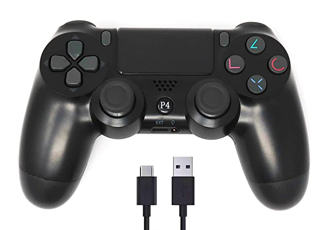 Amazon.com: Controlador PS4 inalámbrico Bluetooth con cable ...