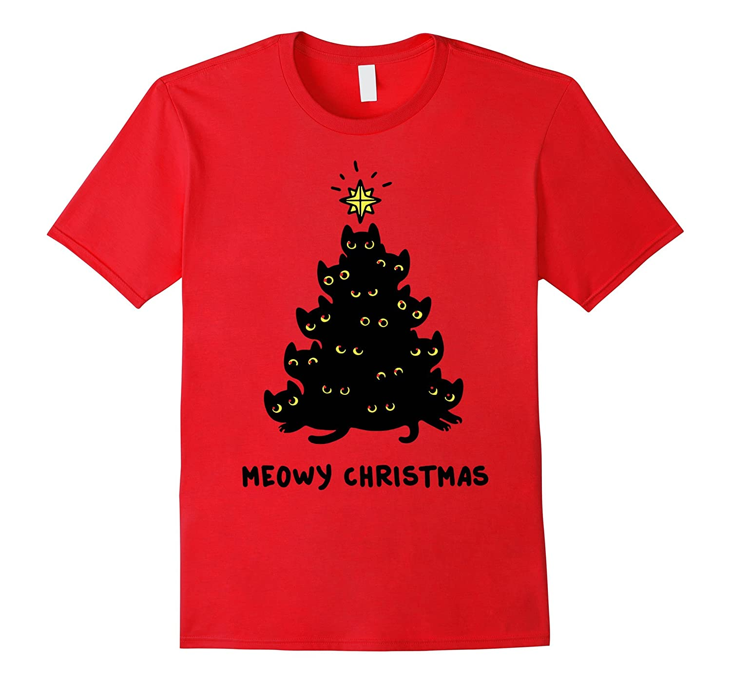 Meowy Christmas Shirt Cat Size Review