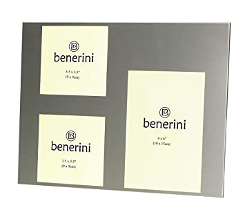 Amazoncom Benerini 3 Picture Brushed Aluminum Satin Silver Color