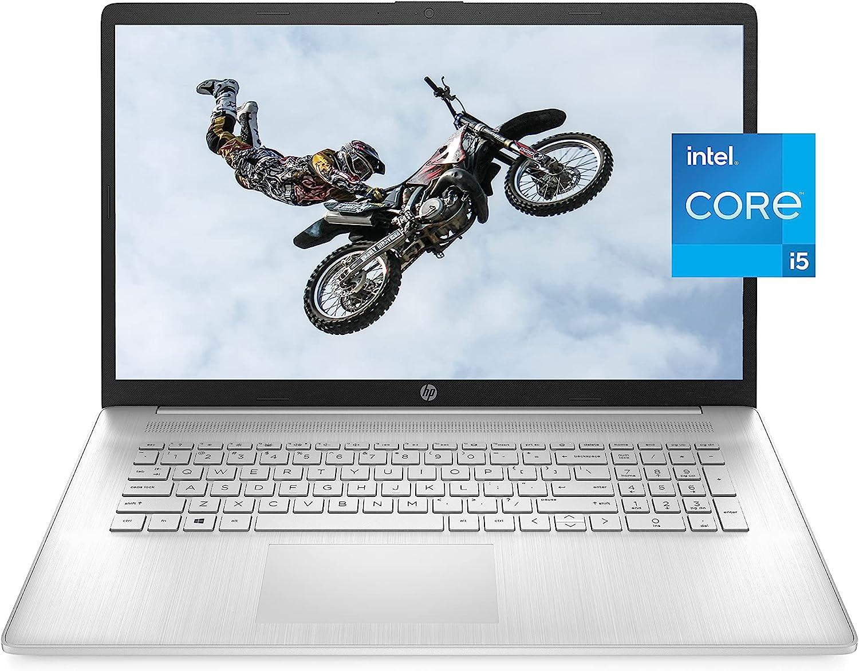 HP 17 Laptop, 11th Gen Intel Core i5-1135G7, 8 GB RAM, 256 GB SSD Storage, 17.3-inch HD+ Display, Windows 10 Home, Anti-Glare Screen, Long Battery Life, Web-cam & Dual Mics (17-cn0021nr, 2021)