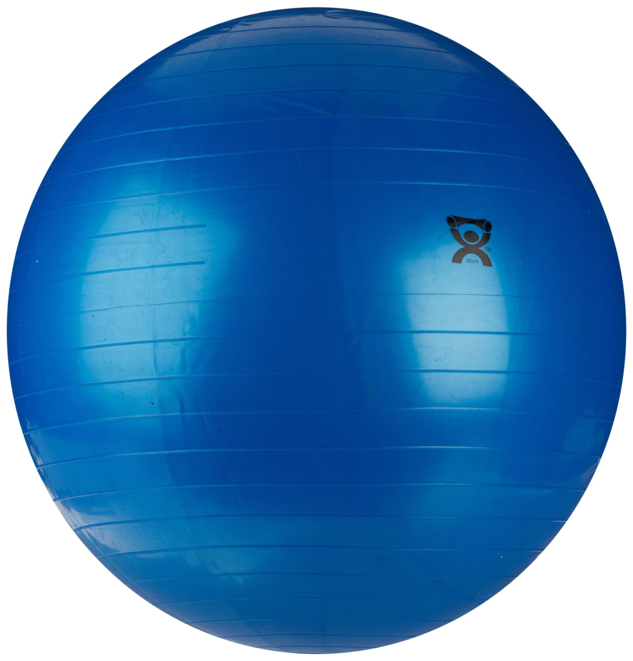 CanDo Non-Slip Vinyl Inflatable Exercise Ball, Blue, 33.5'' by Cando