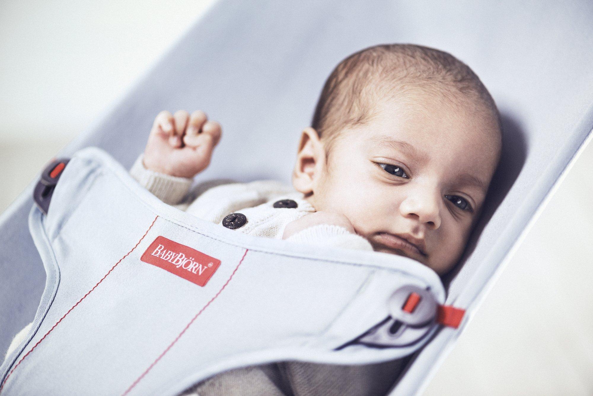 BabyBjorn Mini Cotton Bouncer, Gray/Jersey by BabyBjörn (Image #6)