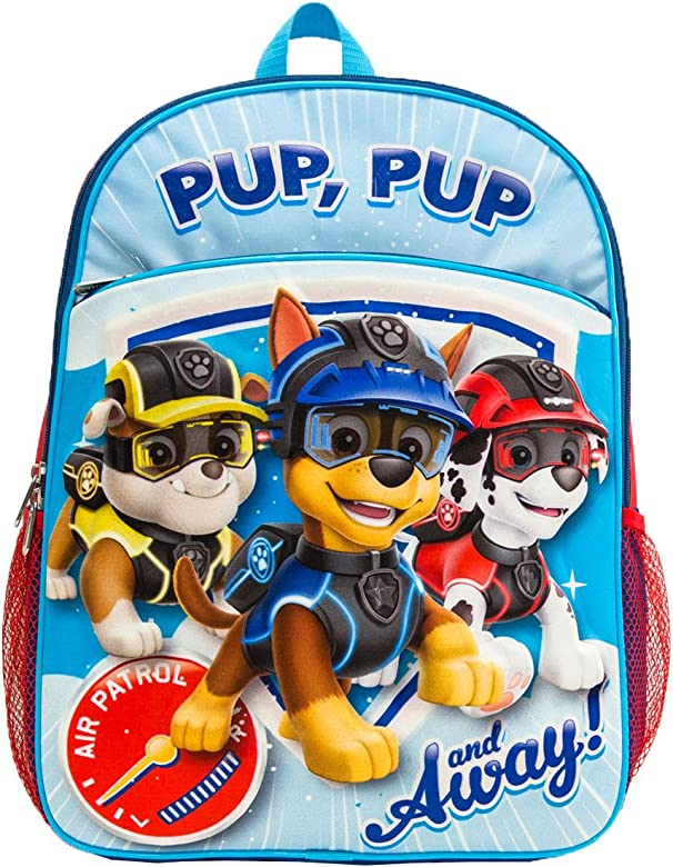 PAW Patrol Boys Backpack with Molded Eva Front, Blue/Red, One Size