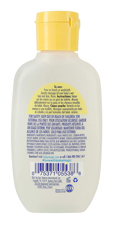 Baby Magic 2-in-1 Shampoo & Wash, Travel Size, Tear-Free, Calendula Oil & Coconut Oil, 2 Fl Oz