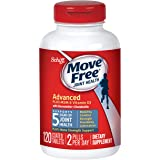 Glucosamine and Chondroitin Plus MSM & D3 Advanced Joint Health Supplement Tablets, Move Free (120 Count in A bottle), Suppor