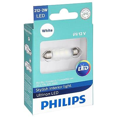 Philips 212-2WLED Ultinon LED Bulb (White), 1 Pack: Automotive
