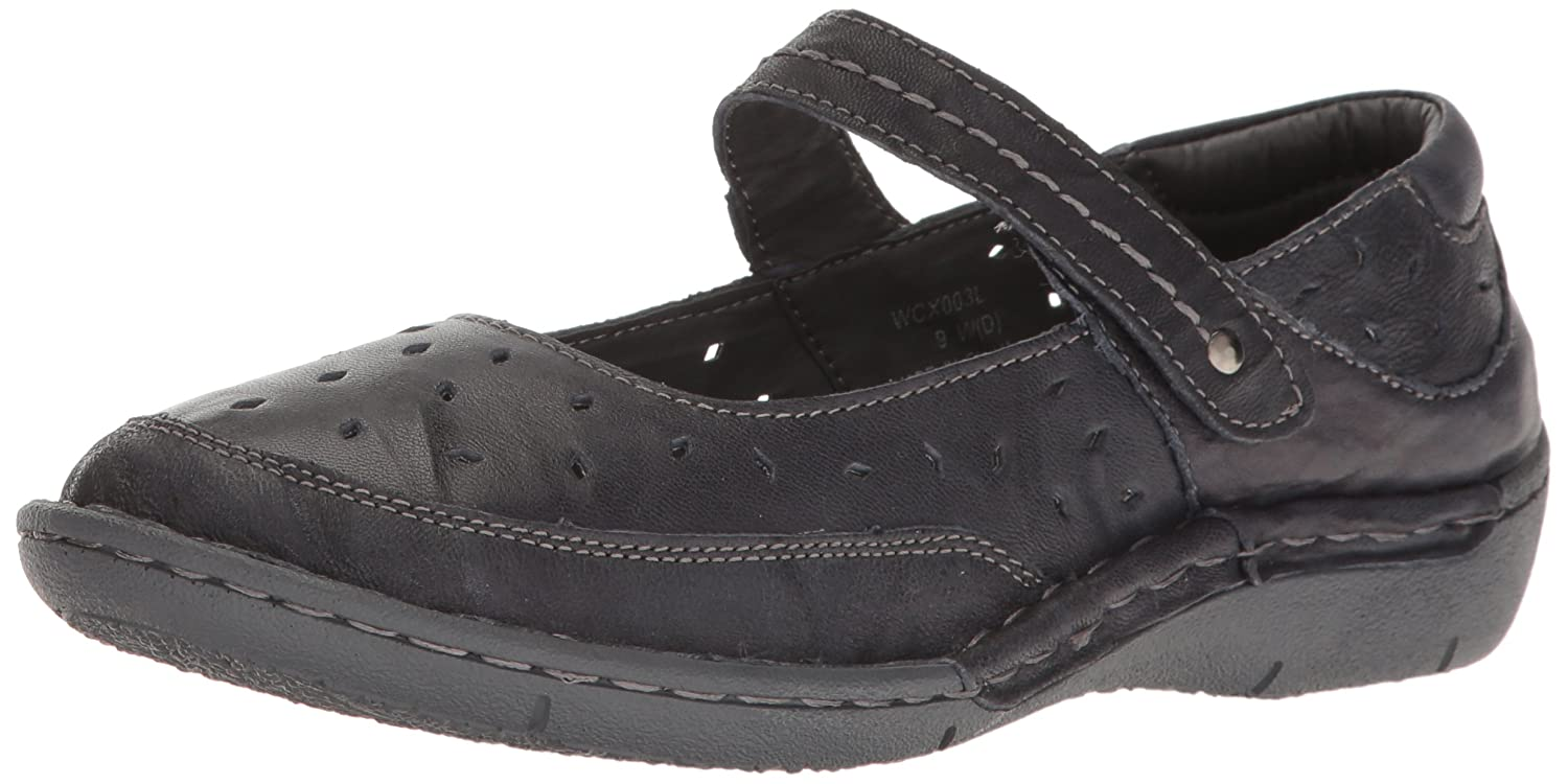 Propet Women's Julene Mary Jane Flat B01IODE8SO 6 B(M) US|Navy