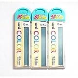 Uni Color Pencil Lead 0.5 mm, Soft Blue, 10 Leads X 3 Pack/total 30 Leads (Japan Import) [Komainu-Dou Original Package]