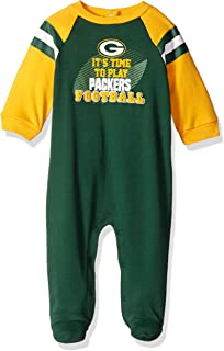 84b1d006 Amazon.com: Green Bay Packers NFL Newborn and Toddler Fleece Sleeper ...