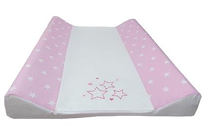 Babymajawelt® Colchón cambiador para bebé - 2 cuñas STARS + 50 x 70 cm funda