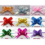 20 Small Pull Ribbon Bows RED (Size 12) Ideal Weddings ~ Party ~ Celebrations ~ Decoration ~ Gift