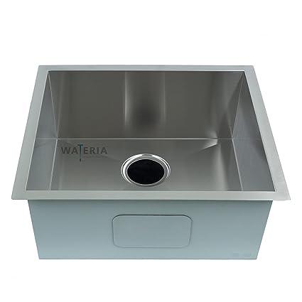 Zero-Radius Kitchen Stainless Steel Sink, Under-mount Single ...