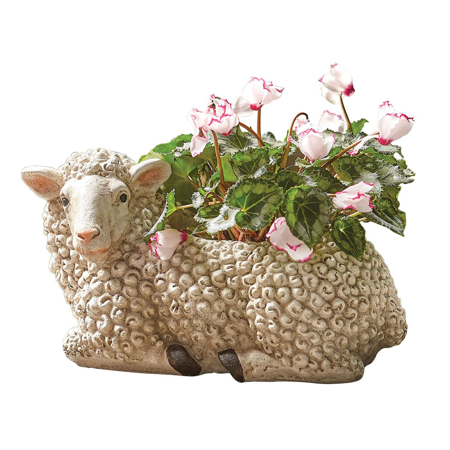 Art Artifact Woolly Sheep Planter Pot – Indoor Outdoor Flower Container