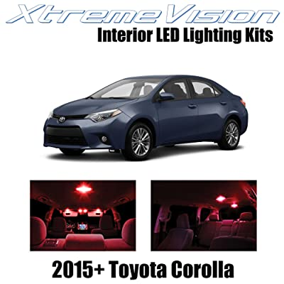XtremeVision Interior LED for Toyota Corolla 2015+ (6 Pieces) Red Interior LED Kit + Installation Tool: Automotive