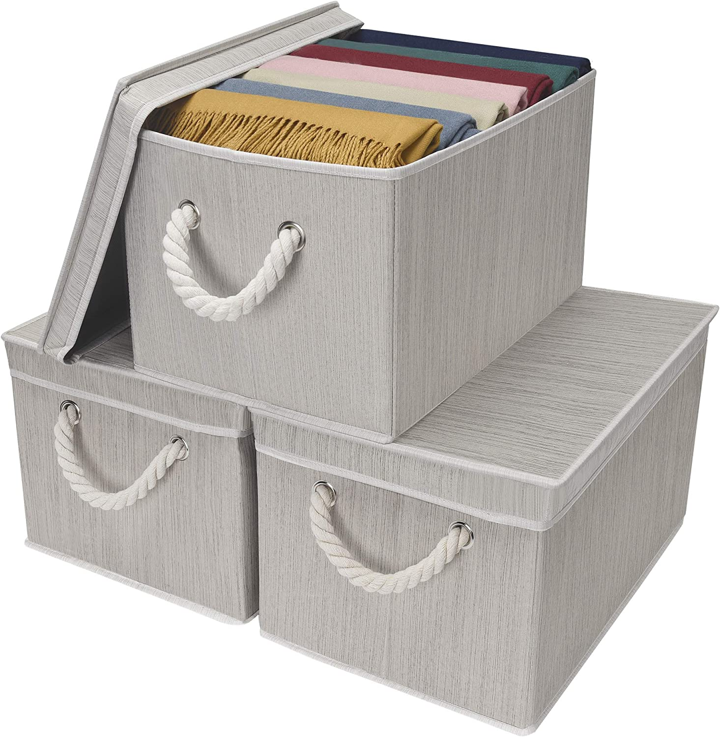 StorageWorks At the price 32L Decorative Storage Bins Shelves Outlet SALE for Ba