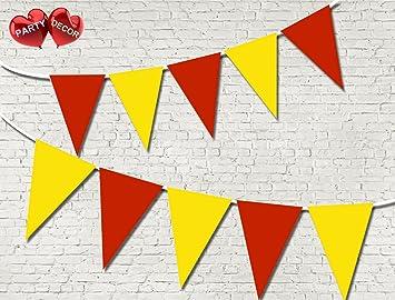 Aragón España Bandera patriótica tema Bunting Banner 15 banderas único colores para garantizada simplemente elegante fiesta nacional Royal decoración de fiesta Decor: Amazon.es: Juguetes y juegos