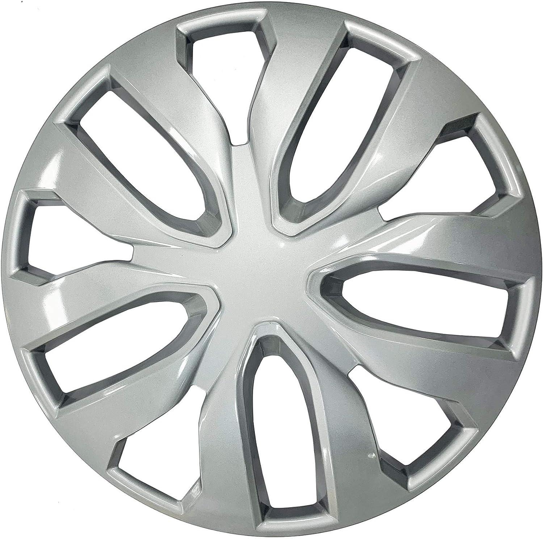 UKB4C 14 Multi Spoke Grey Wheel Trims Hub Caps Covers Protectors