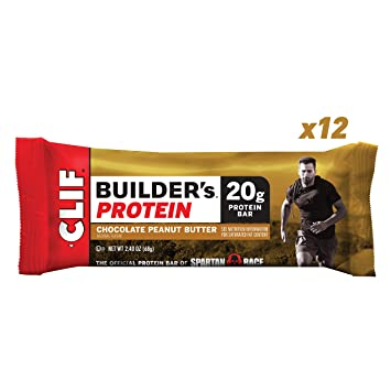 CLIF BUILDER'S - Protein Bars - Chocolate Peanut Butter - (2 4 Ounce  Non-GMO Bars, 12 Count)