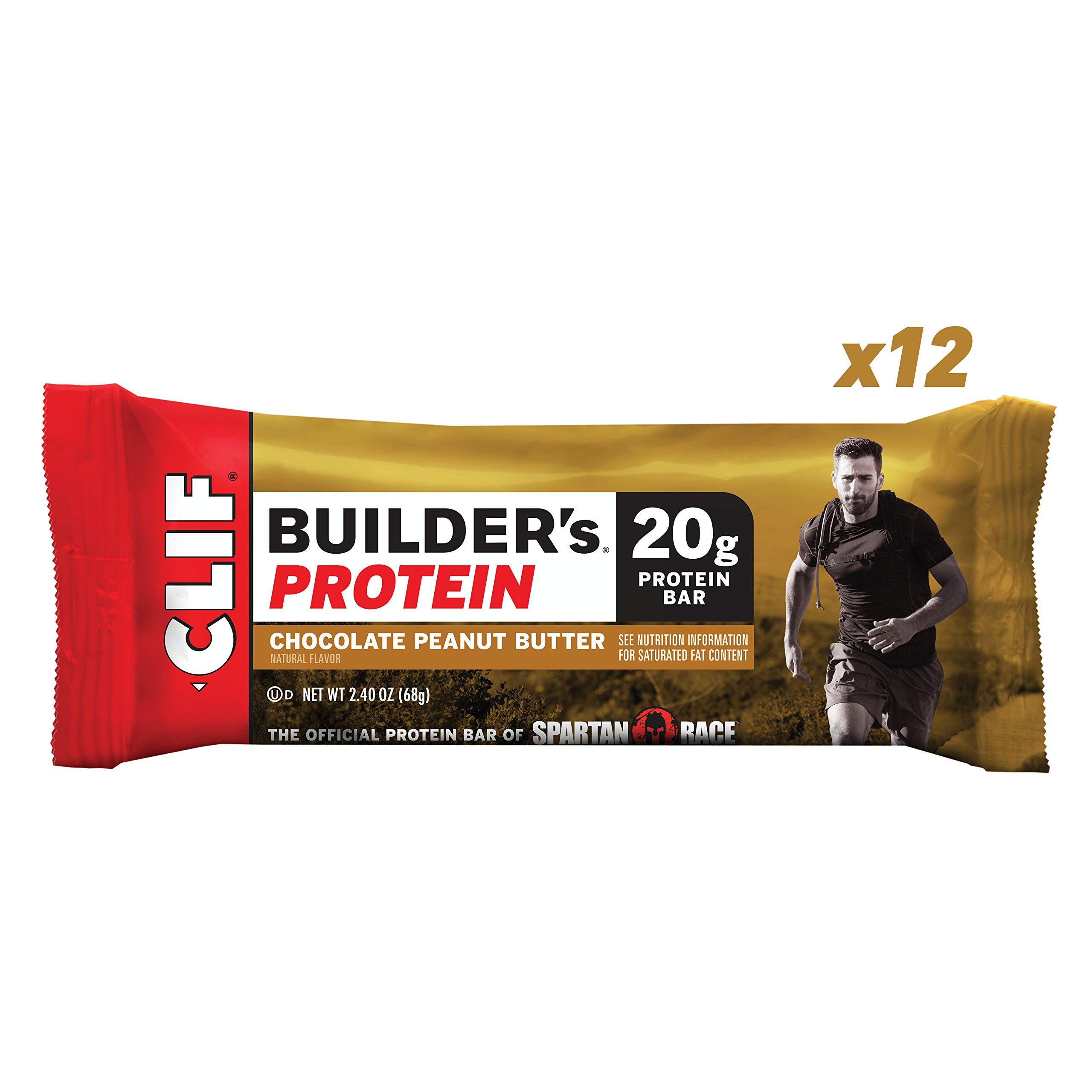 CLIF BUILDERS - Protein Bar - Chocolate Peanut Butter Flavor - (2.4 Ounce Non-