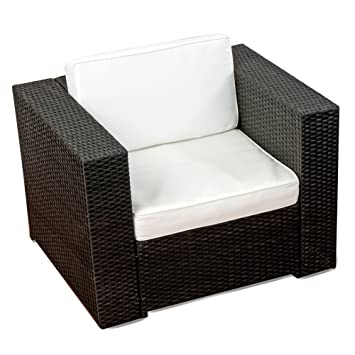 Amazon.de: (1er) Polyrattan Lounge Möbel Sessel schwarz ...