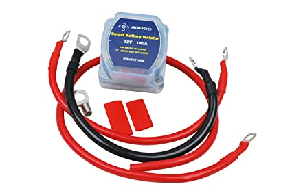 amazon com aopec 12v 140amp dual battery isolator fits atv utv rh amazon com