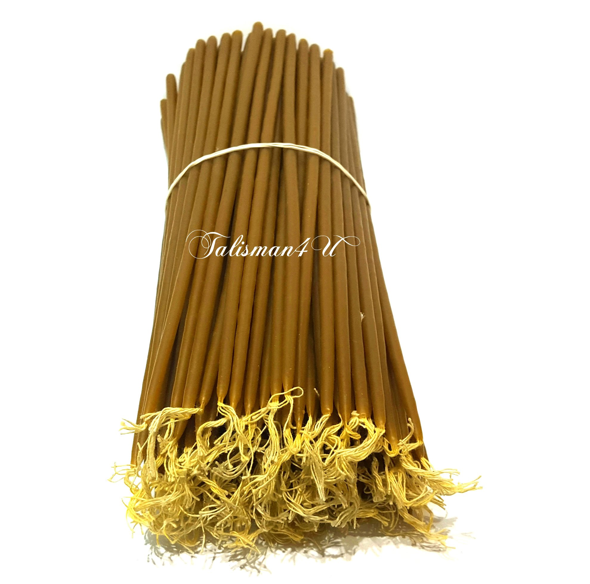 50 Natural Pure BEESWAX TAPER CANDLES 11'' Tall Church Jerusalem Holy Land Candles by Talisman4U