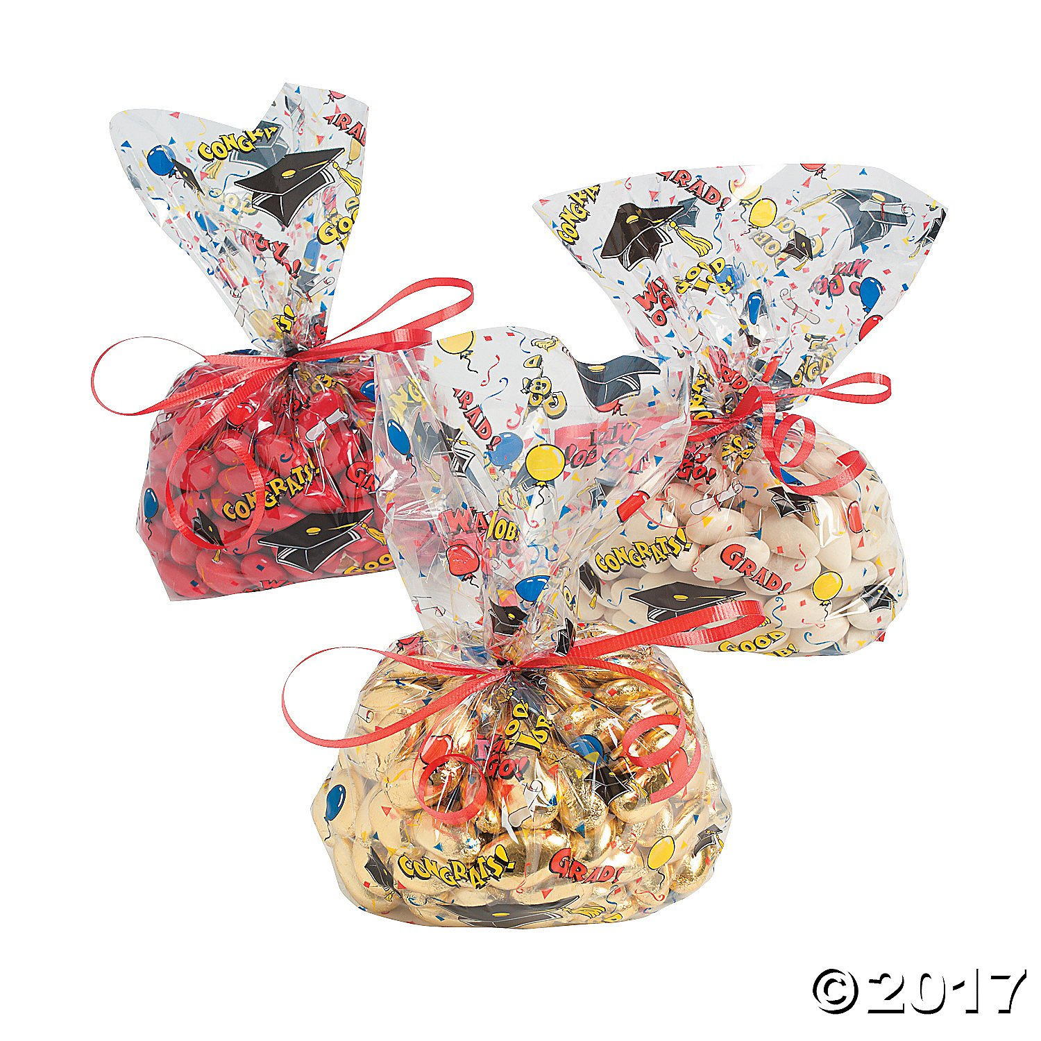 Cellophane Graduation Party Goody Bags - 12 ct