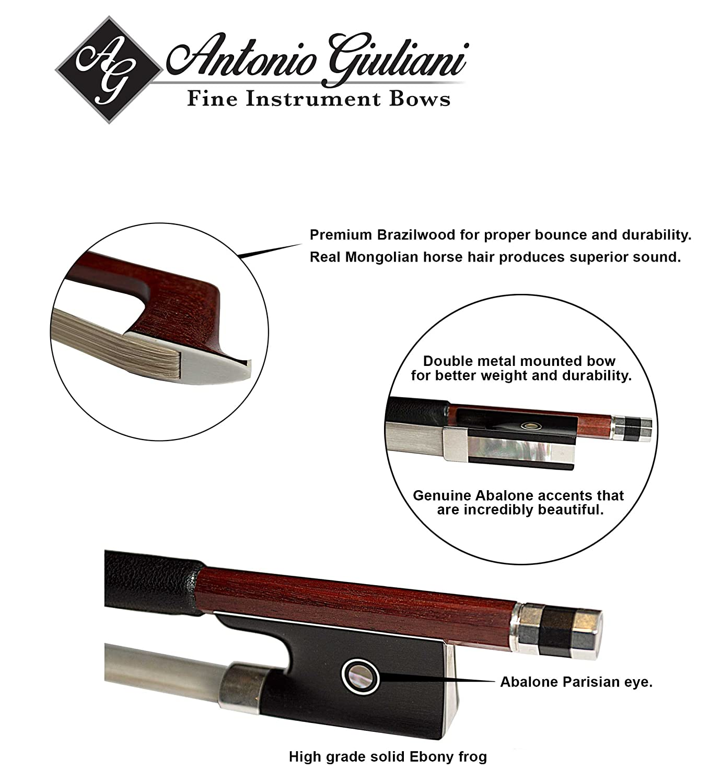 Giuliani Premier Violin Bow 4/4 (Full) Size Kennedy Violins