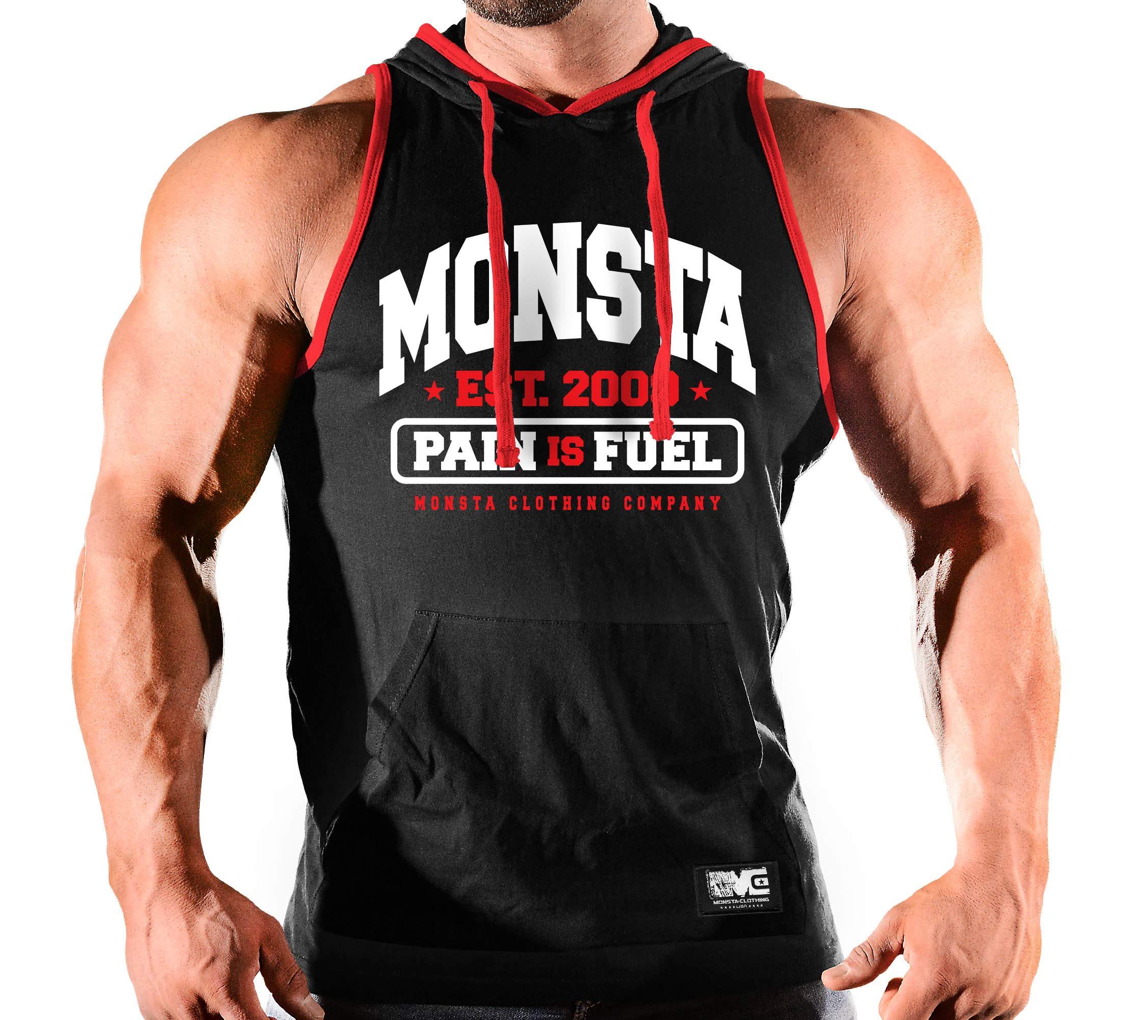 Grey Tap or Bleed Monsta Clothing Men/'s HARD LIFE Gym Fashion Tee