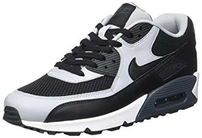 Nike Air Max 90 Essential, Chaussures de running homme, Negro / Gris (Black