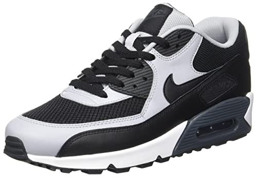 c9bb73bee Nike Men's Air Max 90 Essential Trainers, Negro / Gris (Black / Black-