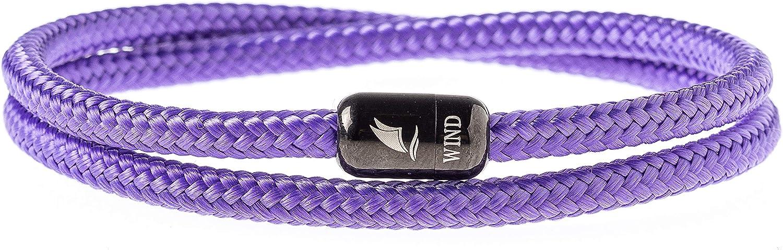 Wind Passion Bracelet Aimant/é Magn/étique Corde Nautique pour Homme et Femme