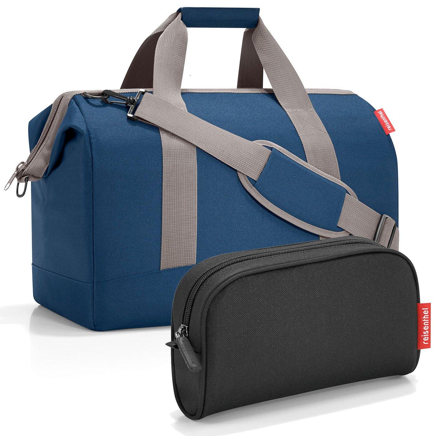 reisenthel Exklusiv-Set: allrounder L PLUS GRATIS makeupcase (dark blue - black)