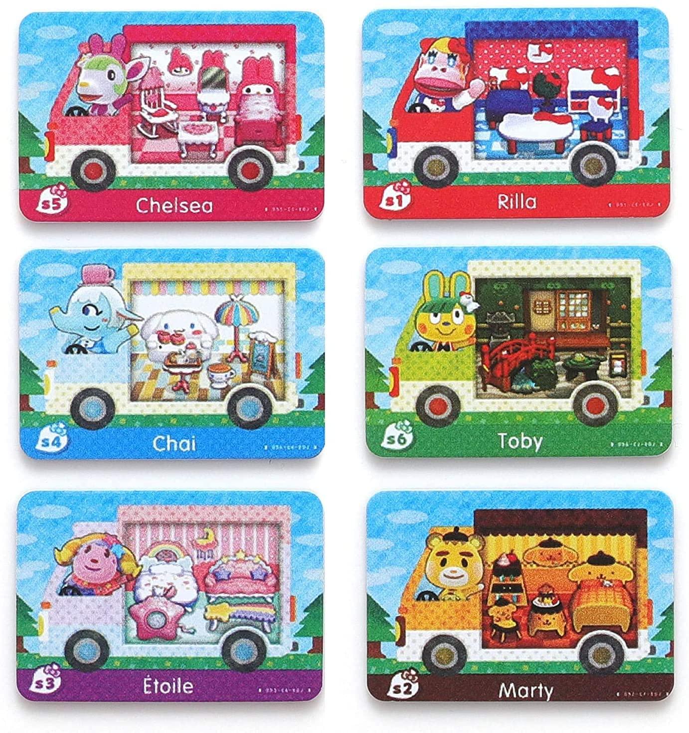 6 개 NFC AMIIBO 희귀 RV 마을 가구 카드 동물 횡단 새로운 지평 새로운 지평 마을 카드 호환 닌텐도 스위치   라이트   WII U   새로운 3DS
