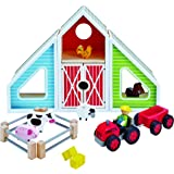 Hape Classic Colorful Barn Wooden Play Set
