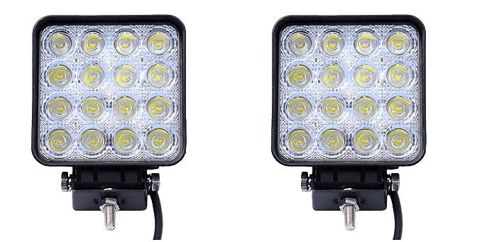 UTV 2x 48W LED Offroad Flutlicht 10V-30V Arbeitslampe 6500K Wasserdicht IP67 Abstrahlwinkel 60 F/ür SUV LED Arbeitsscheinwerfer ATV